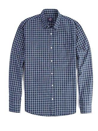 Taco Camisa Xadrez Manga Longa Azul Marinho/Branco Azul Marinho/Branco/GGG