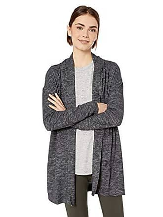 Daily Ritual Womens Cozy Knit Open Cardigan, Black Marl, Small