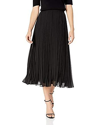 Anne Klein Womens Pleated Maxi Skirt, Anne Black, L