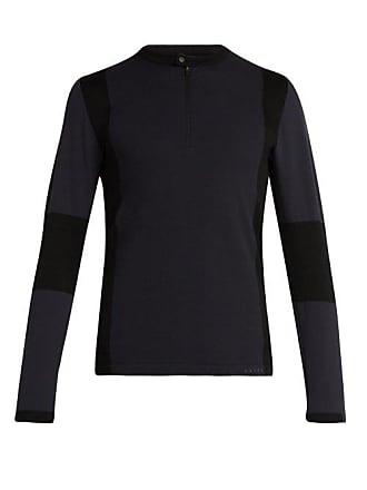 Falke Half Zip Technical Jersey Top - Mens - Black