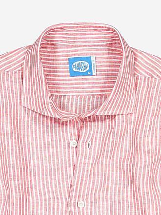 Panareha CORSICA stripes linen shirt red