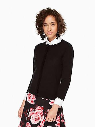 Kate Spade New York Scallop Cardigan, Black - Size XS