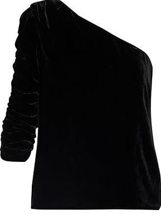 Joie Joie Woman Wayman One-shoulder Velvet Top Black Size 12