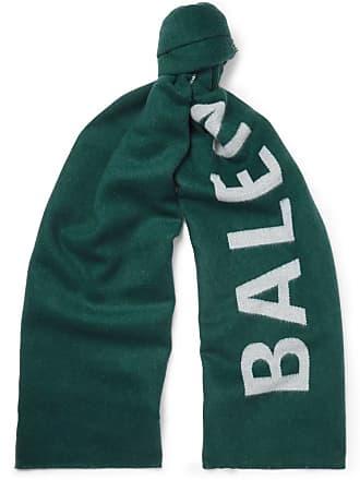 Balenciaga Logo-jacquard Wool Scarf - Green
