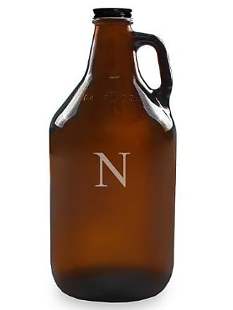 Cathy's Concepts Personalized 64oz Growler, Amber, Letter N
