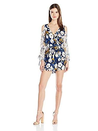 a07df4e6aa96 Minkpink Womens Pacifico Floral Print Cold Shoulder Playsuit