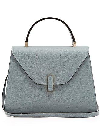 Valextra Iside Medium Grained Leather Bag - Womens - Light Blue