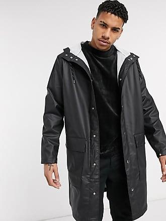 Weekday Sune unisex raincoat with adjustable inner drawstring-Black