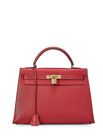 Hermès Kelly Sellier 32 Courcheval Bag, Rouge Vif