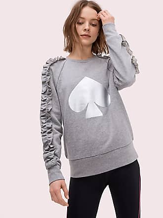 Kate Spade New York Spade Ruffle Pullover, Active Heather - Size S