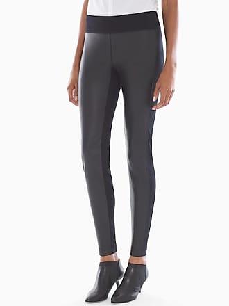 Soma Smoothing Faux Leather Legging, Black, Size XXL