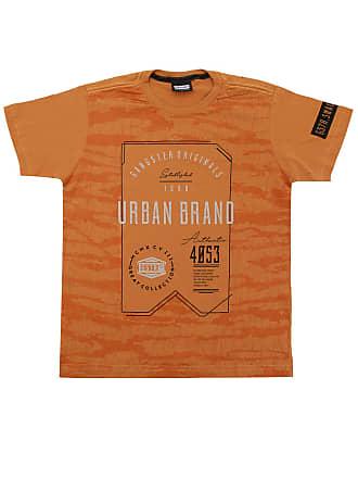 Gangster Camiseta Gangster Menino Escrita Amarela