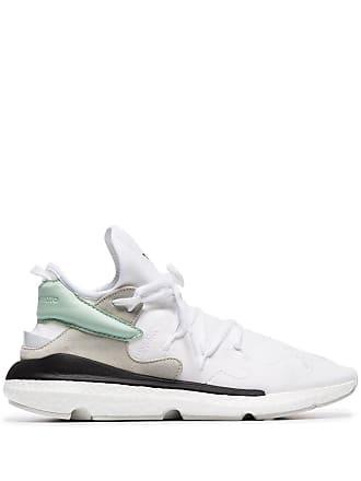 Yohji Yamamoto white kusari II leather and neoprene sneakers
