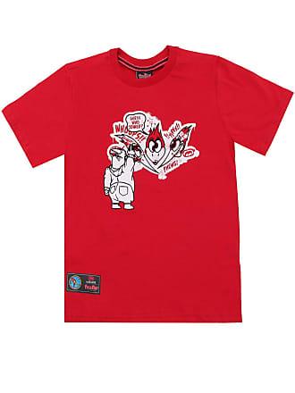 Ecko Camiseta Ecko Menino Personagens Vermelha