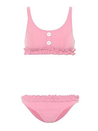 85423e66c6f04 Lisa Marie Fernandez Pink Womens Colby Ruffled Bikini - The Webster