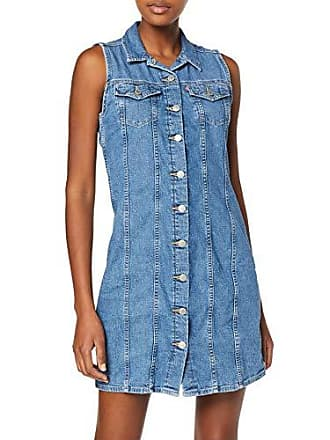 e4ff78986f Levi's SL Short Aubrey Dress Robe, Bleu (Back to Life (1) 0003