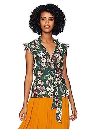 Parker Womens Miranda Cap Sleeve wrap Floral Blouse, Cacti Daisy L
