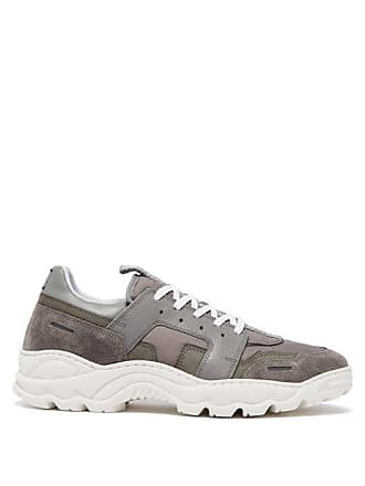 Ami Ami - Running Lucky 9 Suede And Mesh Trainers - Mens - Grey