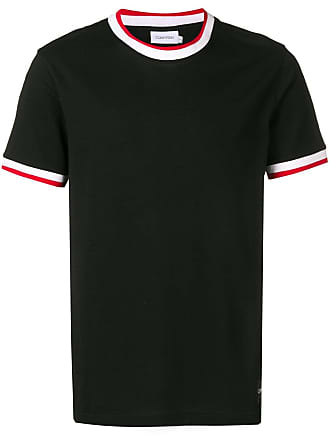 Calvin Klein Camiseta com acabamento contrastante - Preto