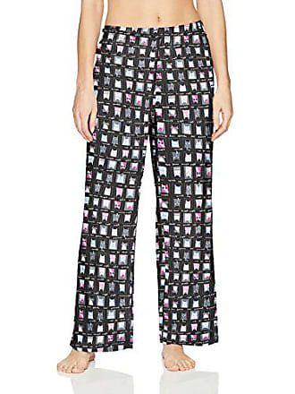 6cc896c1a2ee25 Hue Printed Knit Long Pajama Sleep Pant Womens, Black/Character Catz, Medium