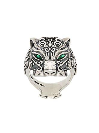 Nove25 Anel Maya Panther de prata - Prateado