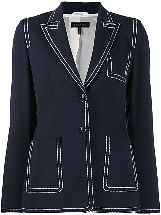 Escada contrast stitch blazer - Azul