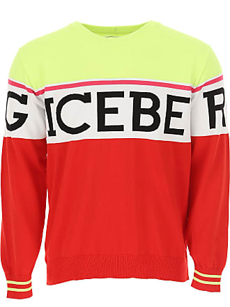 72fd1e580bd966 Iceberg Sweater for Men Jumper On Sale, fluo yellow, Cotton, 2017, L M S