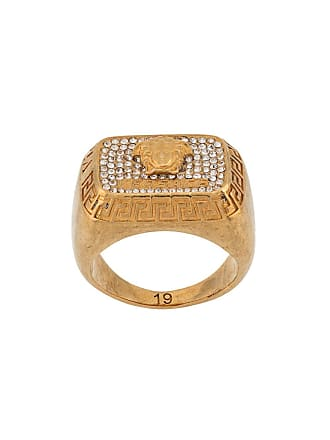 Versace bejeweled Medusa ring - Gold