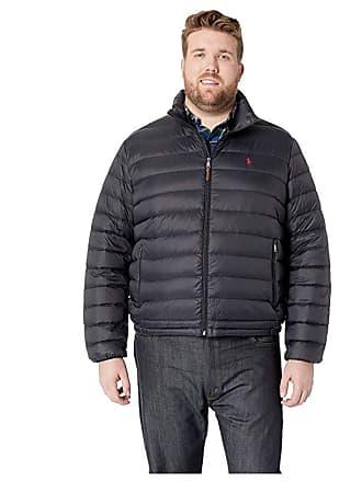 23e788cfd17 Ralph Lauren Big Tall Lightweight Packable Down Jacket (Polo Black) Mens  Coat