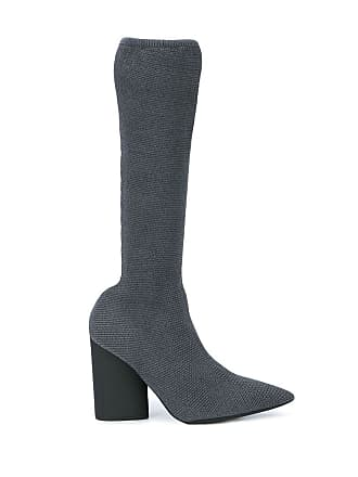 dcb0f81ca8c3a Yeezy by Kanye West Grey Womens Knit Stretch Boot - The Webster