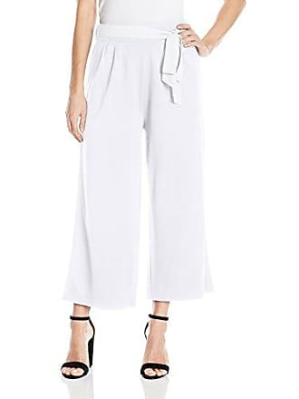 Joan Vass Womens Culottes with Tie Belt, White, S