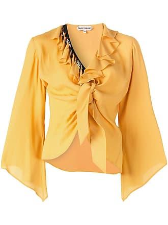 Giacobino Blusa de tricô com babados - Amarelo