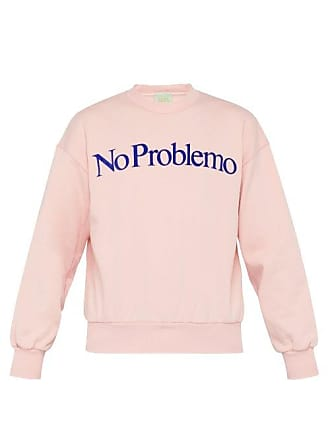 Aries No Problemo Cotton Jersey Sweatshirt - Mens - Pink