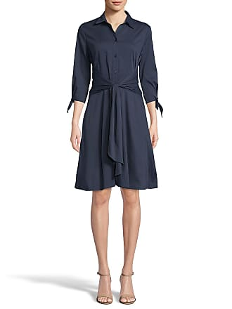 5twelve Bodice Buttoned 3/4-Sleeve Tie Waist Dress