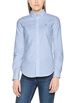 Polo Ralph Lauren NGL Kendal-Long Sleeve-Shirt, Chemise Femme, Bleu ( 368ac172aa4