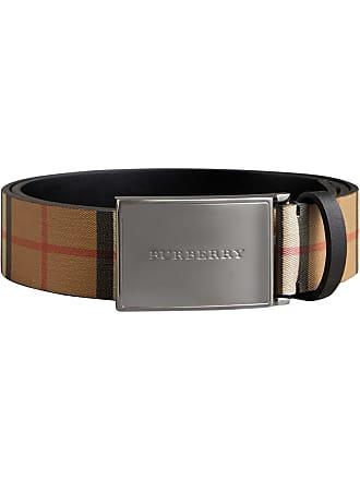 929b0c61685e Burberry Plaque Buckle Vintage Check Leather Belt - Black