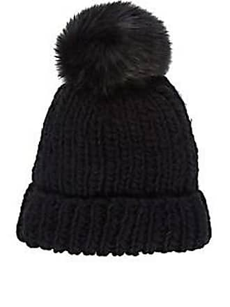 b826fe50b0a Barneys New York Womens Pom-Pom-Embellished Hat - Black
