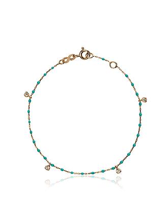 Gigi Clozeau Pulseia de ouro rosê 18kt com diamante - Azul