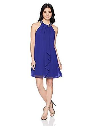 S.L. Fashions Womens Petite Jewel Halter Sheath Dress (Petite and Regular) Dress, iris, 10P