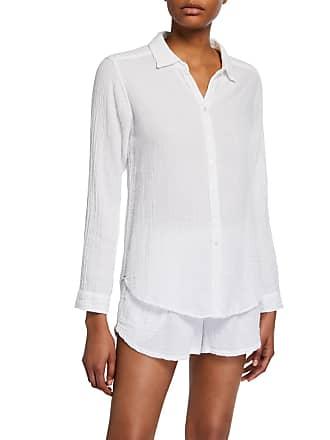 Xirena Scout Cotton Lounge Shirt, White