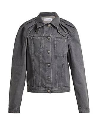 J.W.Anderson Jw Anderson - Floating Sleeved Denim Jacket - Womens - Dark Grey