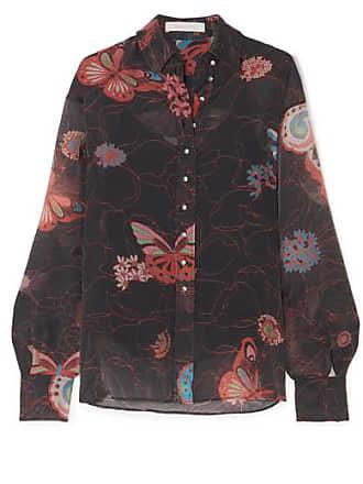 See By Chloé Printed Chiffon Shirt - Black