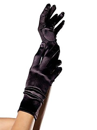 Leg Avenue Satin Wrist Length Warmers, Black