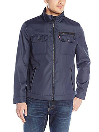 Levi's Mens Synthetic Ribstop Jacket, Navy, X-Large