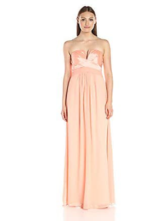 Minuet Womens Strapless V Front Gown, Light Coral X-Large