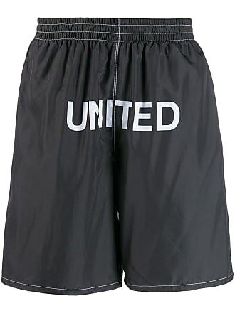 United Standard Short de natação com estampa de logo - Preto