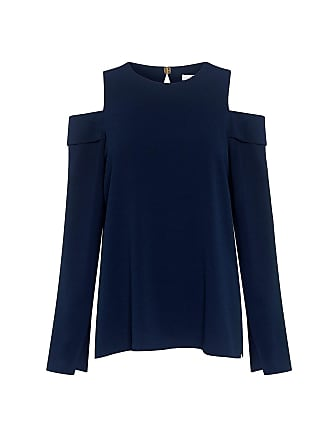 Tibi Savanna Off-shoulder Top Midnight Navy