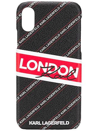 Karl Lagerfeld Capa London para iPhone X/XS - Preto