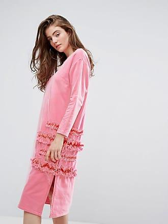 Typicalfreaks Klänning i oversize med mesh och volanger - Rosa e9c0249c06b36