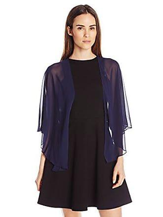S.L. Fashions Womens Poly Chiffon Shrug Jacket, Navy, Large/X-Large